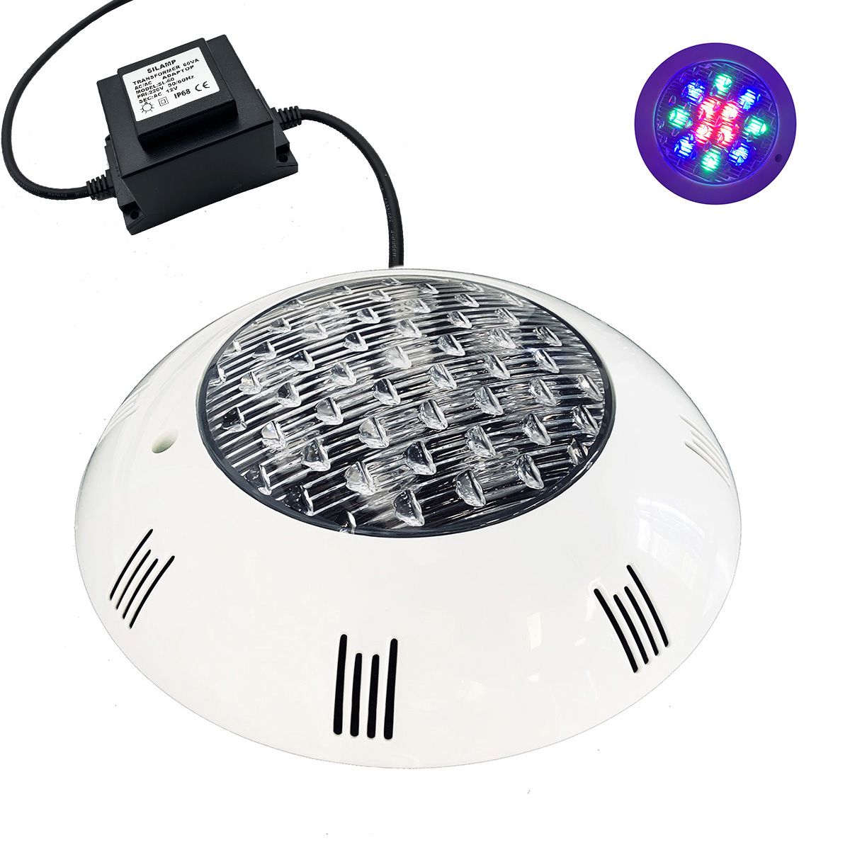 Faretto LED 12V 12w impermeabile IP68 FE80-12W Multicolor CON TRASFORMATORE